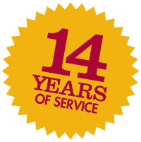 14 years of service
